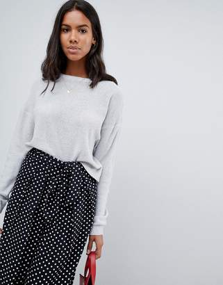 Brave Soul Fettled Sweater with Lace Up Back