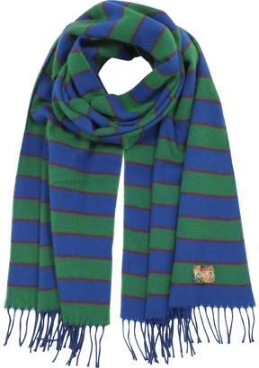 Kenzo Stripy Wool Long Scarf