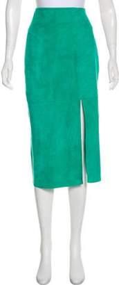 Diane von Furstenberg Suede Knee-Length Skirt