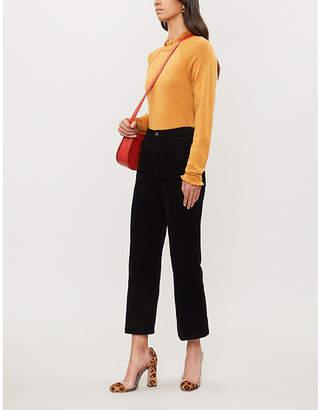J Brand Joan high-rise wide-leg crop corduroy jeans