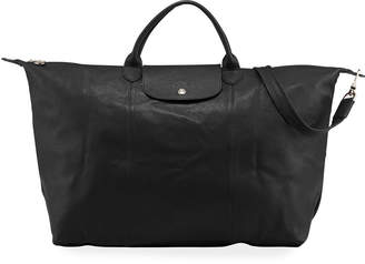 Longchamp Le Pliage Large Leather Travel Tote Bag