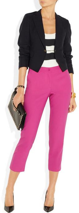 Michael Kors Samantha cropped stretch-wool pants