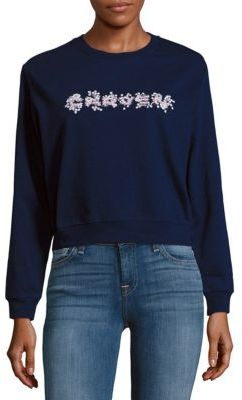 Carven Printed Cotton Sweatshirt