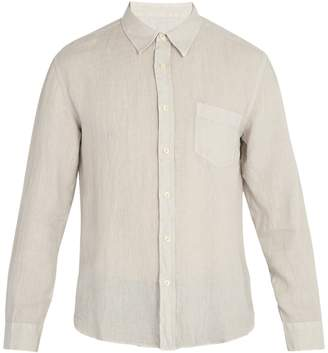 120% Lino 120 LINO Long-sleeved linen shirt