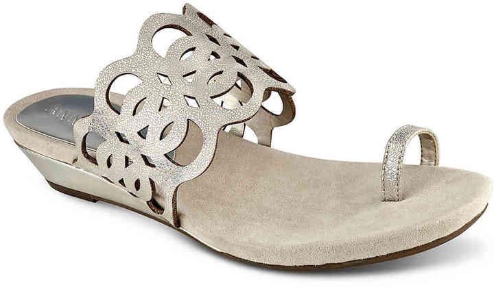 Anne KleinWomen's Imma Wedge Sandal -Gold Metallic