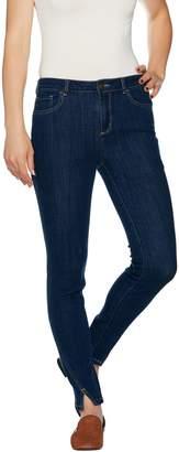 Logo By Lori Goldstein LOGO by Lori Goldstein Regular Skinny Jeans w/ Seams & Notch Detail