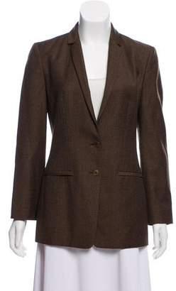 Calvin Klein Collection Wool-Blend Button-Up Blazer