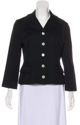 Dolce & Gabbana Peak-Lapel Long Sleeve Blazer Black Peak-Lapel Long Sleeve Blazer
