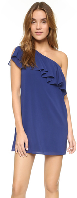 alice + olivia Francie One Shoulder Ruffled Dress $368 thestylecure.com