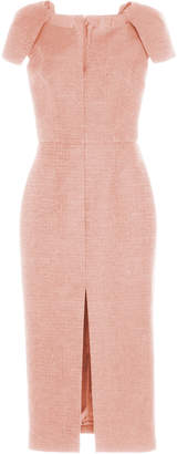Martin Grant Structured Cap Sleeve Midi Dress