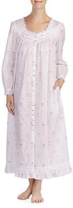 Eileen West Floral Cotton Nightgown