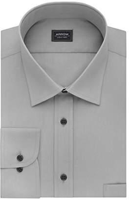 Arrow Mens Dress Shirts Regular Fit Solid Poplin Spread Collar