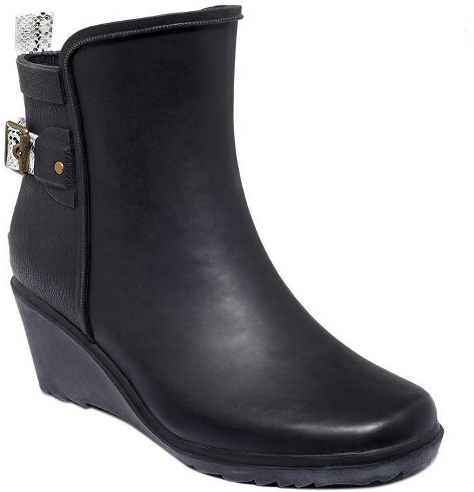 Chooka Shoes, Wrap Rain Wedge Booties