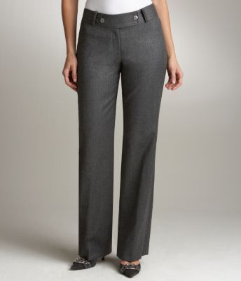 Audrey Curvy Wool Flannel Pants
