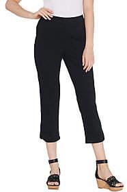 Isaac Mizrahi Live! Regular Knit Denim Pull-OnCapri Jeans