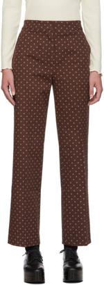 ALEXACHUNG Brown Denim Trousers