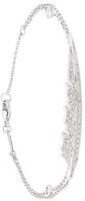 Stephen Webster 18kt white gold diamond feather bracelet