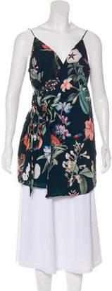 Style Stalker StyleStalker Floral Asymmetrical Blouse w/ Tags