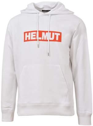 Helmut Lang Logo Print Hoodie White