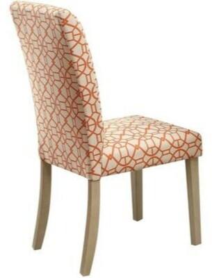 Charlton Home Bashaw Geometric Pattern Upholstered Dining Chair Charlton Home