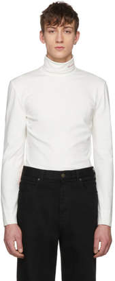 Calvin Klein White Logo Turtleneck