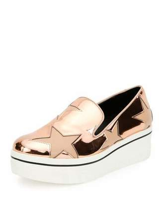 Stella McCartney Binx Metallic Star Slip-On Sneakers, Copper Tea Rose