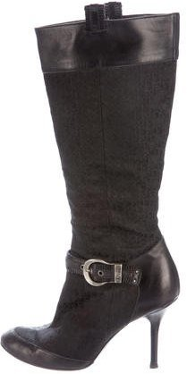 Christian Dior Buckle-Accented Diorissimo Boots