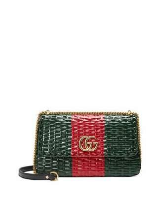 Gucci Linea Cestino Small Wicker Shoulder Bag