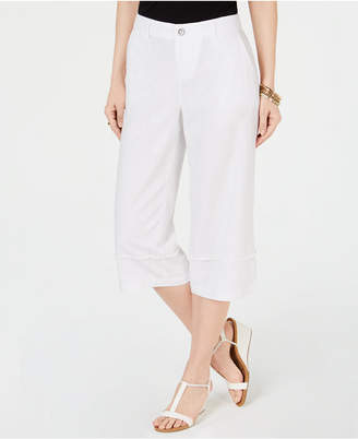 Style&Co. Style & Co Frayed Wide-Leg Capri Pants