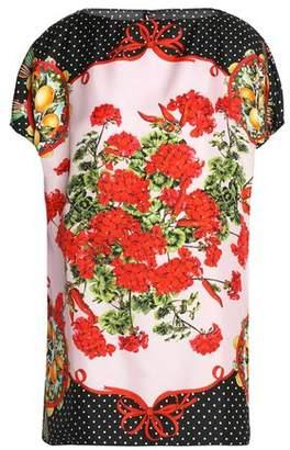 Dolce & Gabbana Printed Silk-Twill Blouse