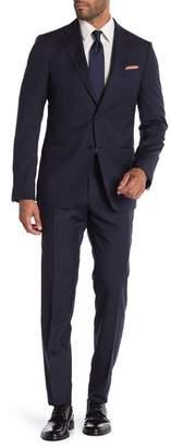 Ermenegildo Zegna Abito 2 Pezzi Blue Two Button Notch Lapel Classic Fit Wool Suit