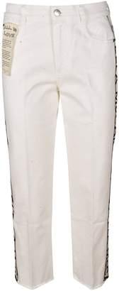 Stella McCartney Cropped Logo Taped Jeans
