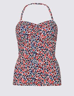 Marks and Spencer Secret SlimmingTM Ditsy Floral Bandeau Tankini Top