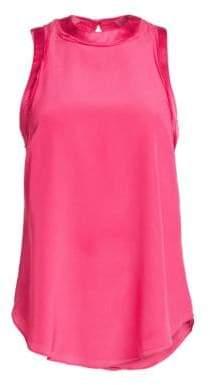 Cinq à Sept Women's Monique Sleeveless Silk Blouse - Guava Pink - Size XXS