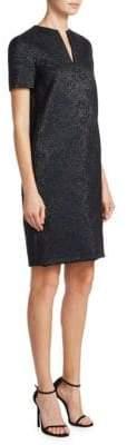 Lanvin V-Neck Jacquard Dress