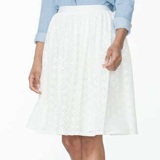 Women's Chaps Lace Skirt $69 thestylecure.com