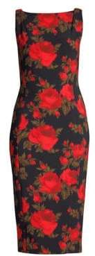 Michael Kors Floral Stretch Cady Sheath Dress