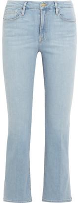 FRAME - Le Crop Bootcut Jeans - Light denim $230 thestylecure.com