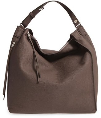 Allsaints Kita Convertible Leather Backpack - Grey $378 thestylecure.com