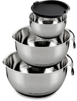 The Sharper Image Mixing Bowls with Non-Skid Base - Set of 3
