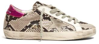 Golden Goose Superstar Python Effect Leather Low Top Trainers - Womens - Python