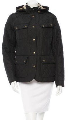 Barbour Quilted Hooded Coat $195 thestylecure.com