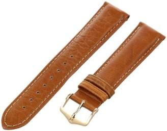 Hirsch 010090-10-20 20-mm Genuine Textured Leather No Allergy-Lining Watch Strap