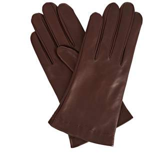 Gizelle Renee - Emily Everyday Dark Brown Leather Gloves