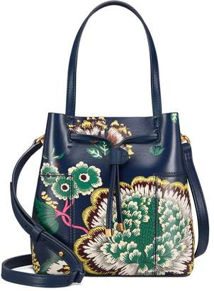 Tory Burch BLOCK-T PRINTED SMALL BUCKET BAG
