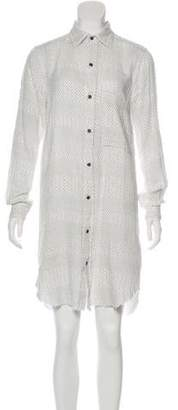 Current/Elliott Printed Long Sleeve Shirtdress