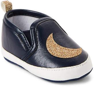 Rising Star (Infant Girls) Blue Star & Moon Slip-On Sneakers