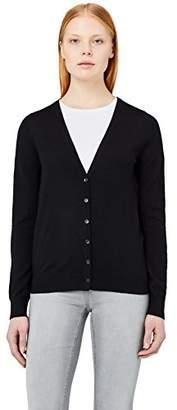 MERAKI Women's Merino V Neck Cardigan,(Manufacturer Size: Small)