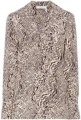 Chloé wave print silk shirt