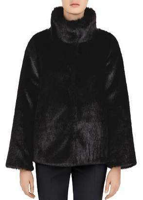 Gerard Darel Myrtille Reversible Faux-Fur Coat